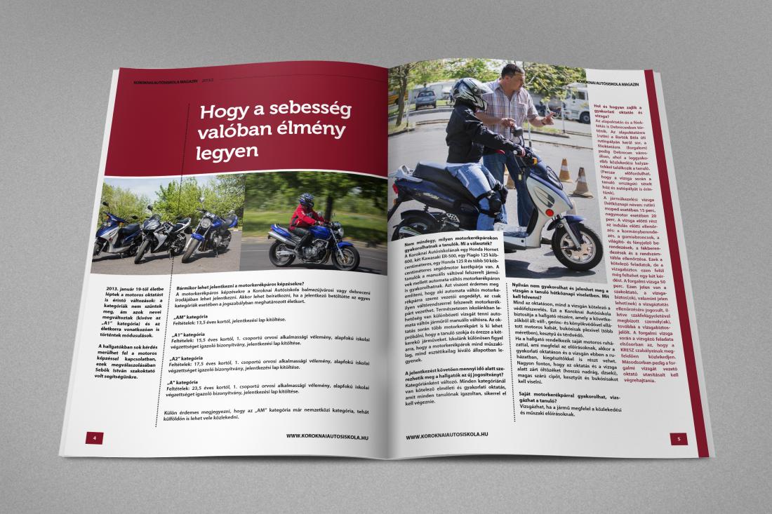 Honlap referencia Koroknai Autósiskola magazin