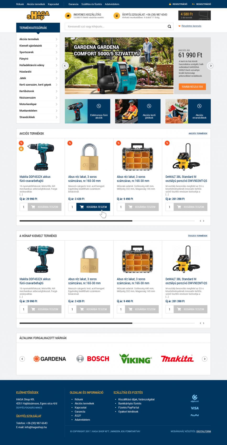 HagaShop Webáruház