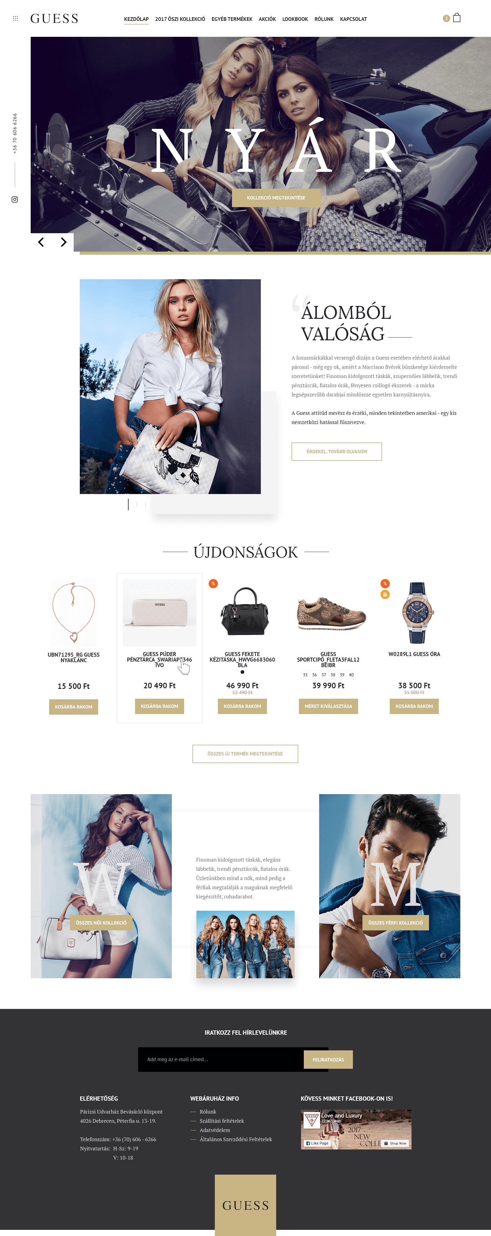 GUESS Webáruház